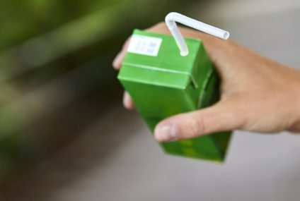 U-Bend straw, made out of paper for individual drink cartons