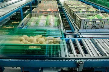 Food retail logistic, highly automated solution by Knapp