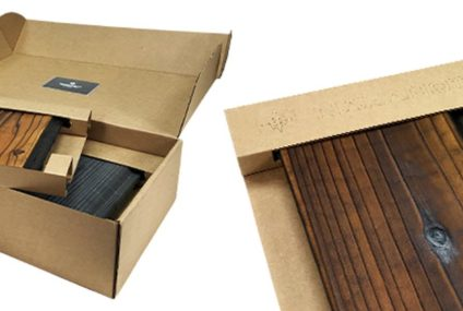 Environmentally friendly corrugated cardboard for packaging