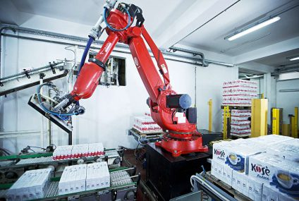 Comau robotic station: increased coffee production capacity