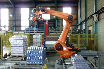 Automation in palletizing operation operation for sugar production in Serbia