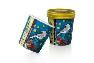 Cuckoo Ice Cream packaging: sustainable innovative awarded