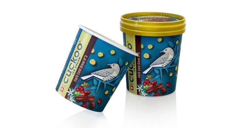 Cuckoo Ice Cream packaging: sustainable innovative awarded