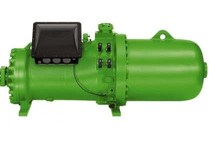 CSH screw compressors: energy efficiency for large heat pumps