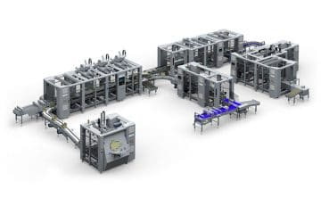Complete secondary packaging systems for food and non food