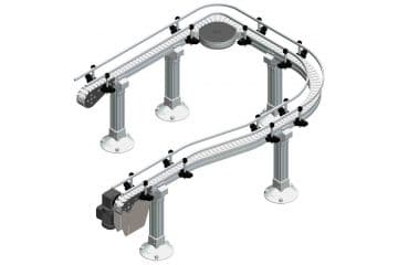 Flextrac Series modular chain conveyors for food and beverage packaging