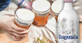 Hoegaarden Cherry Blossom inspired by springtime browed in US