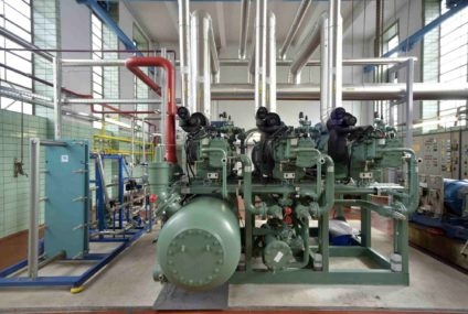 High-quality screw compressors for meat processed refrigeration
