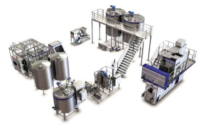 Processing line for cheese: fully automated solution