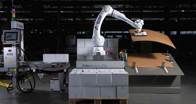 CoboAccess_Pal cobotic palletiser: compact and user-friendly