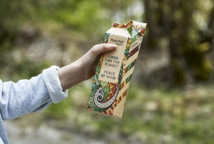 Natural Brown Board? From it the Pure-Pak milk carton
