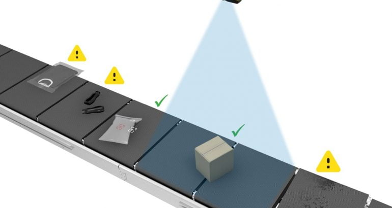 3D-A1000 Item Detection System for logistic sorter trays