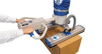 JumboErgo vacuum tube lifter with FMP area gripper