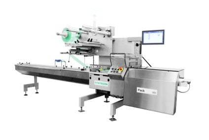 Pack 202 flow wrapping machine for bakery, cookies and crackers