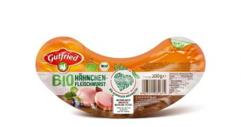 Sustainable packaging for poultry sausage brand Gutfried