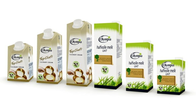 Carton packaging EcoPlus for Belgian Olympia Dairy company