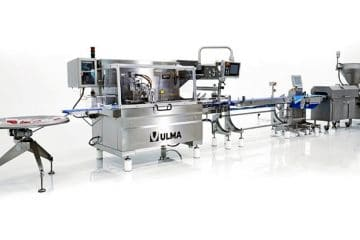 Minced meat processing and trayless packaging: portioning and weighing