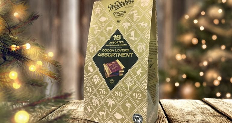 Recyclable mono paper for high quality chocolate premium look