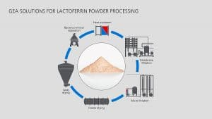 Process extraction of Lactoferrin