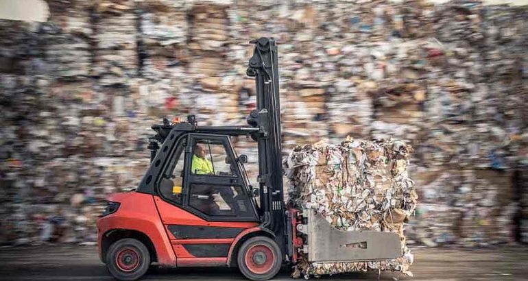 Tracking life cycle of cardboard and packaging for recycling legislation