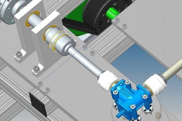 Test bench for right angle gearboxes to optimize their performances