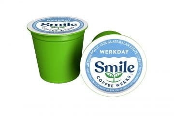 Compostable coffee capsule: process and packaging for Smile Beverage Werks
