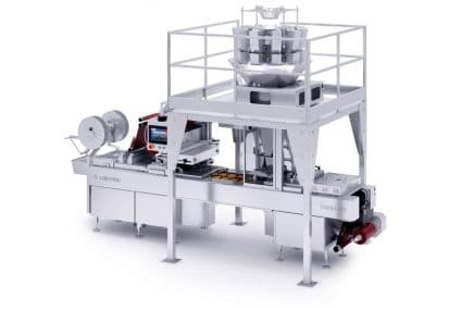 THERA thermoforming machine: flexibility and quick format change for food