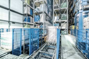 Ventilation system for dairy products warehouse retrofitted close Hamburg