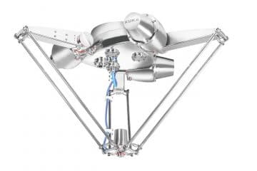 KR DELTA robot by KUKA: stainless steel for pick and place in food industries