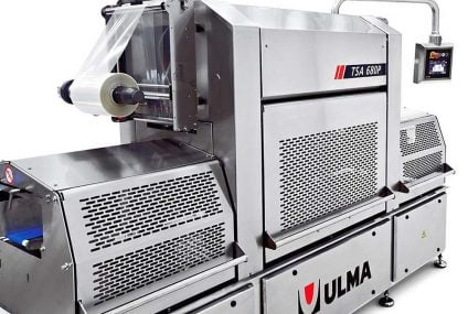 Tray sealer machine for fruit and vegebable applications