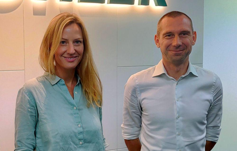 Riccarda Züllig and Adrien Beauvisage