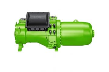 Compact screw compressor for water-cooled high-performance liquid chillers