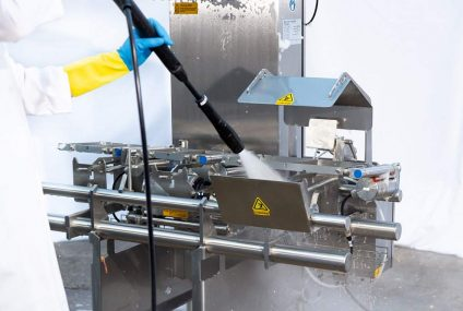 Checkweigher metal detection system for stringent food cleaning processes