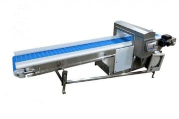 Metal detector inspection line production for metal free zone